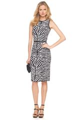 Michael Kors Zebra-print Sheath Dress - Lyst