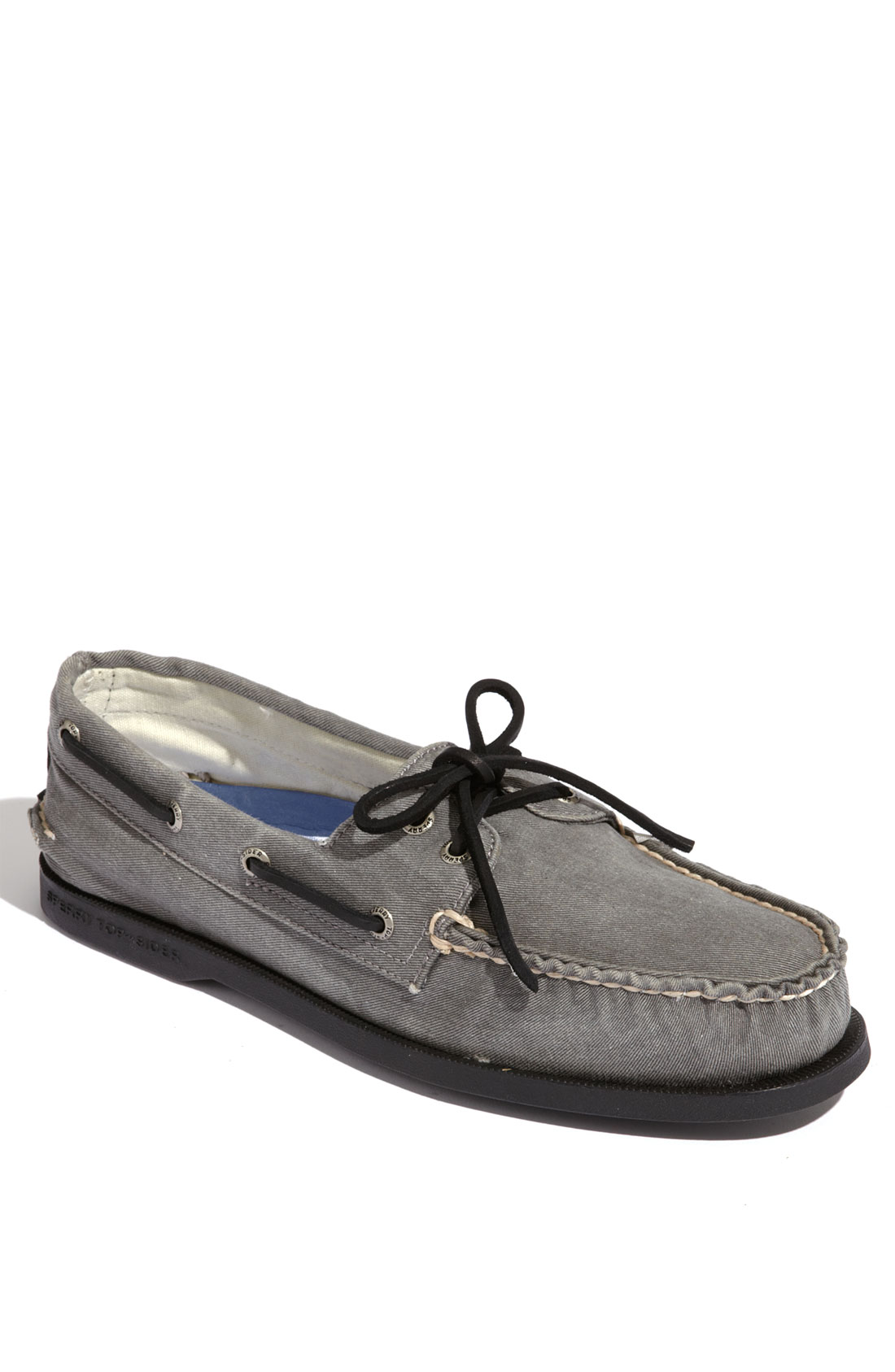 Sperry Top-sider Authentic Original Canvas Boat Shoe In Gray For Men (dark Gray) | Lyst