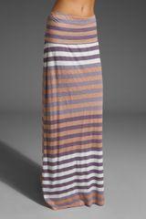 Splendid Gradient Stripe Maxi Skirt - Lyst