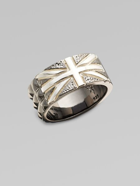 Stephen Webster Sterling Silver & Black Onyx Union Jack Ring in Silver for Men