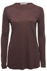 T By Alexander Wang Classic Long Sleeve T - Lyst
