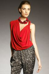 Lanvin Draped Halter Top - Lyst