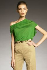 Lanvin Draped Knit Top - Lyst