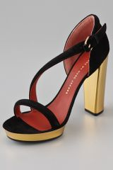 Marc By Marc Jacobs Diagonal Strap Suede Platform Sandals - Lyst