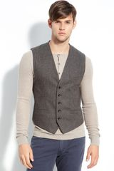 Marc By Marc Jacobs Harry Herringbone Vest - Lyst