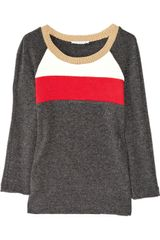 Sandro Sabre Color-block Fine-knit Sweater - Lyst