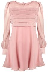 Topshop Tier Front Chiffon Dress By Rare**