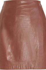 Vince Leather Mini Skirt - Lyst