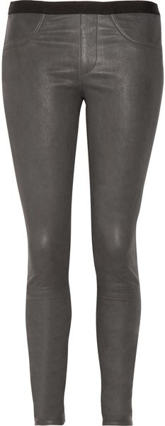 Helmut Lang Skinny Leather Pants - Lyst