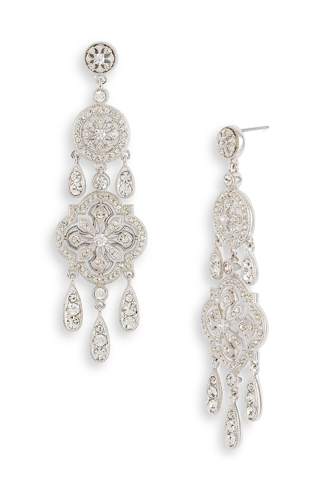 Nadri Ankara Chandelier Earrings (nordstrom Exclusive) in Silver