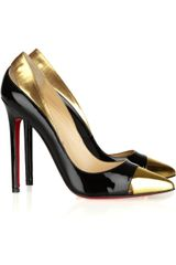 Christian Louboutin Duvette 120 Metallic and Patent-leather Pumps - Lyst
