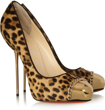 Christian Louboutin Metallip 120 Leopard-print Calf Hair Pumps - Lyst