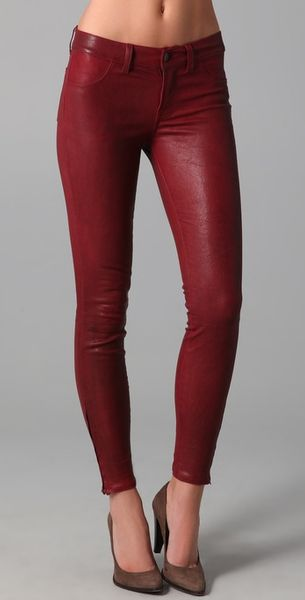 J Brand Leather Skinny Pants - Lyst