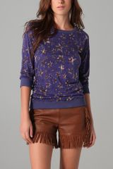 See By Chloé Long Sleeve Star Print Tee - Lyst