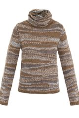 Vanessa Bruno Multi-brown Roll-neck Jumper - Lyst