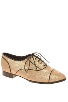 Asos Asos Magical Glitter Lace Up Flat Shoe - Lyst