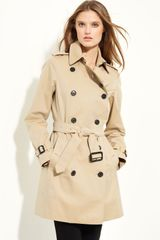 Burberry Double Breasted Cotton Trench - Lyst