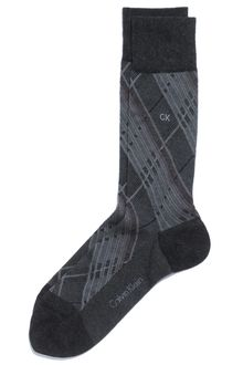 Calvin Klein Plaid Socks - Lyst