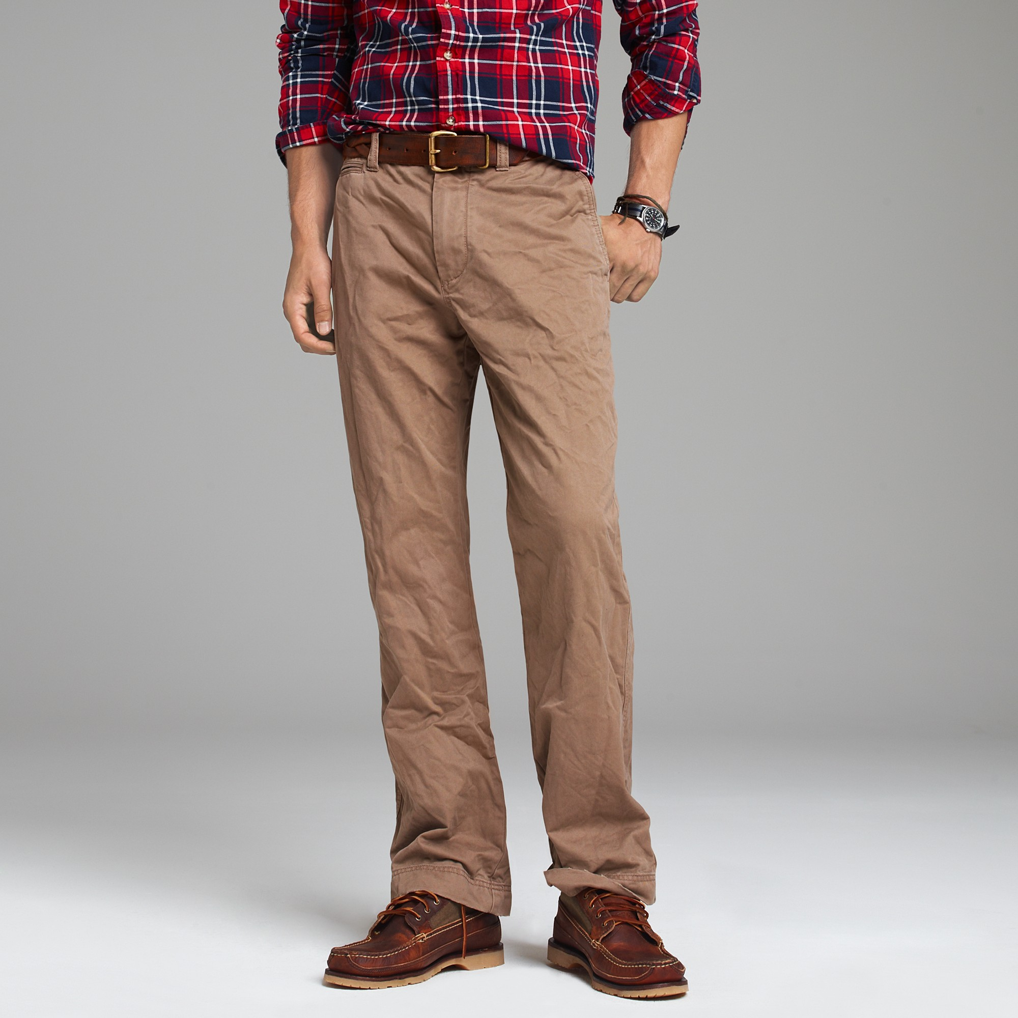 Dark Red Jeans Mens