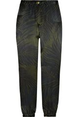 Lanvin Printed Silk Pants - Lyst