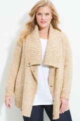 Michael by Michael Kors Snap Front Cardigan (plus) - Lyst