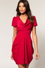 ASOS Collection Asos Tulip Dress with Cowl Neck - Lyst