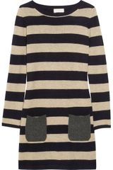 Chinti And Parker Striped Cashmere Sweater Dress - Lyst