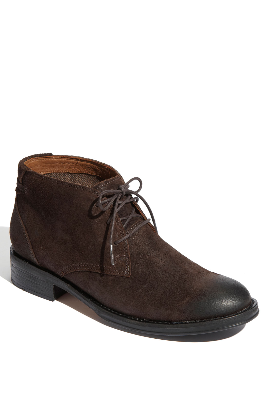 clarks maguire chukka boot in brown for brown suede