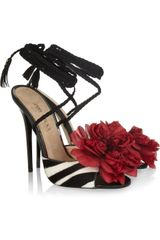 Jimmy Choo Faye Zebra-print Calf Hair Sandals - Lyst