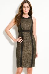 Michael by Michael Kors Metallic Tweed Sheath Dress - Lyst