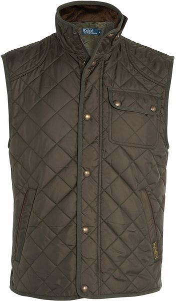 Polo Ralph Lauren Olive Sports Quilt Gilet in Green for Men (olive) - Lyst