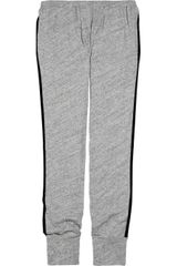 L'Agence Cotton Track Pants - Lyst