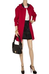 Marni Ribbed Wool Coat in Red - Lyst