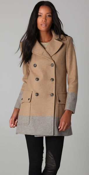 Rag & Bone Admiral Coat in Gray (camel)
