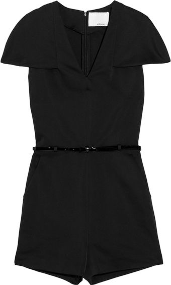 3.1 Phillip Lim Belted Structured-satin Playsuit - Lyst