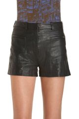 3.1 Phillip Lim Leather Short - Lyst