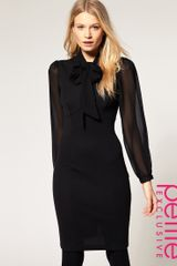 ASOS Collection Asos Petite Exclusive 40s Tailored Dress with Chiffon Sleeve - Lyst