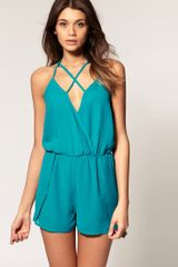 ASOS Collection Asos Playsuit with Strappy Back Detail - Lyst