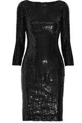 Balmain Sequin-embellished Silk Dress - Lyst