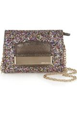 Jimmy Choo Caro Glitter-covered Leather Mini Bag - Lyst