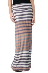 Splendid Gradient Stripe Maxi Skirt in Brown (pewter) - Lyst