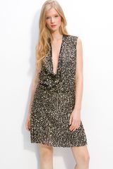 Diane Von Furstenberg Issie Sequin Faux Wrap Dress - Lyst