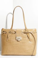Jimmy Choo Rhea - Moc Croc Croc Embossed Shopper - Lyst