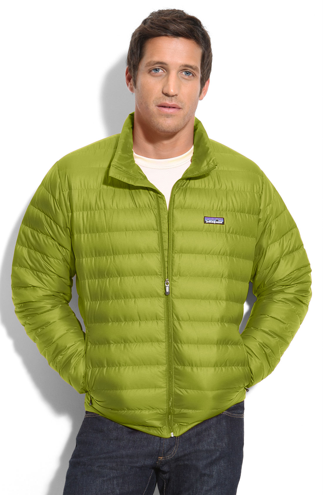Patagonia Down Jacket In Green For Men Light Gecko Lyst