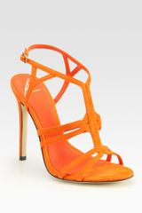 B Brian Atwood Florrina Suede High-heel Sandals