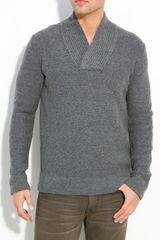 Vince Shawl Collar Sweater - Lyst
