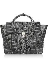 3.1 Phillip Lim Pashli Croc-effect Leather Tote - Lyst