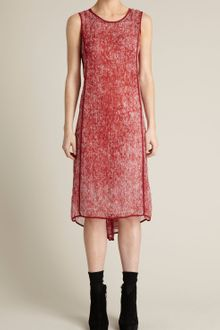 Adam Lippes Knee-length Button-back Dress in Crinkle Chiffon - Lyst