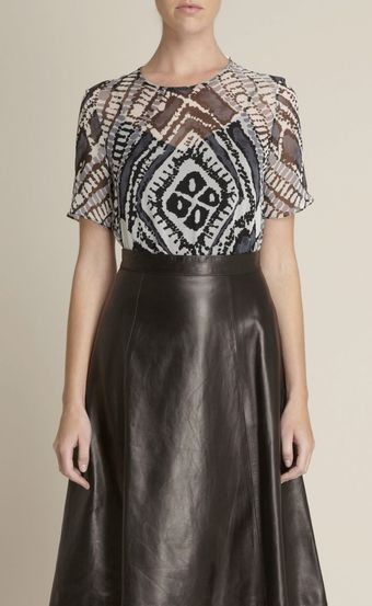Adam Lippes Argyle Batik Silk Top - Lyst