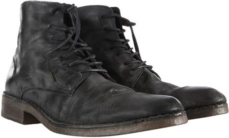 allsaints trap boot in black for washed black lyst
